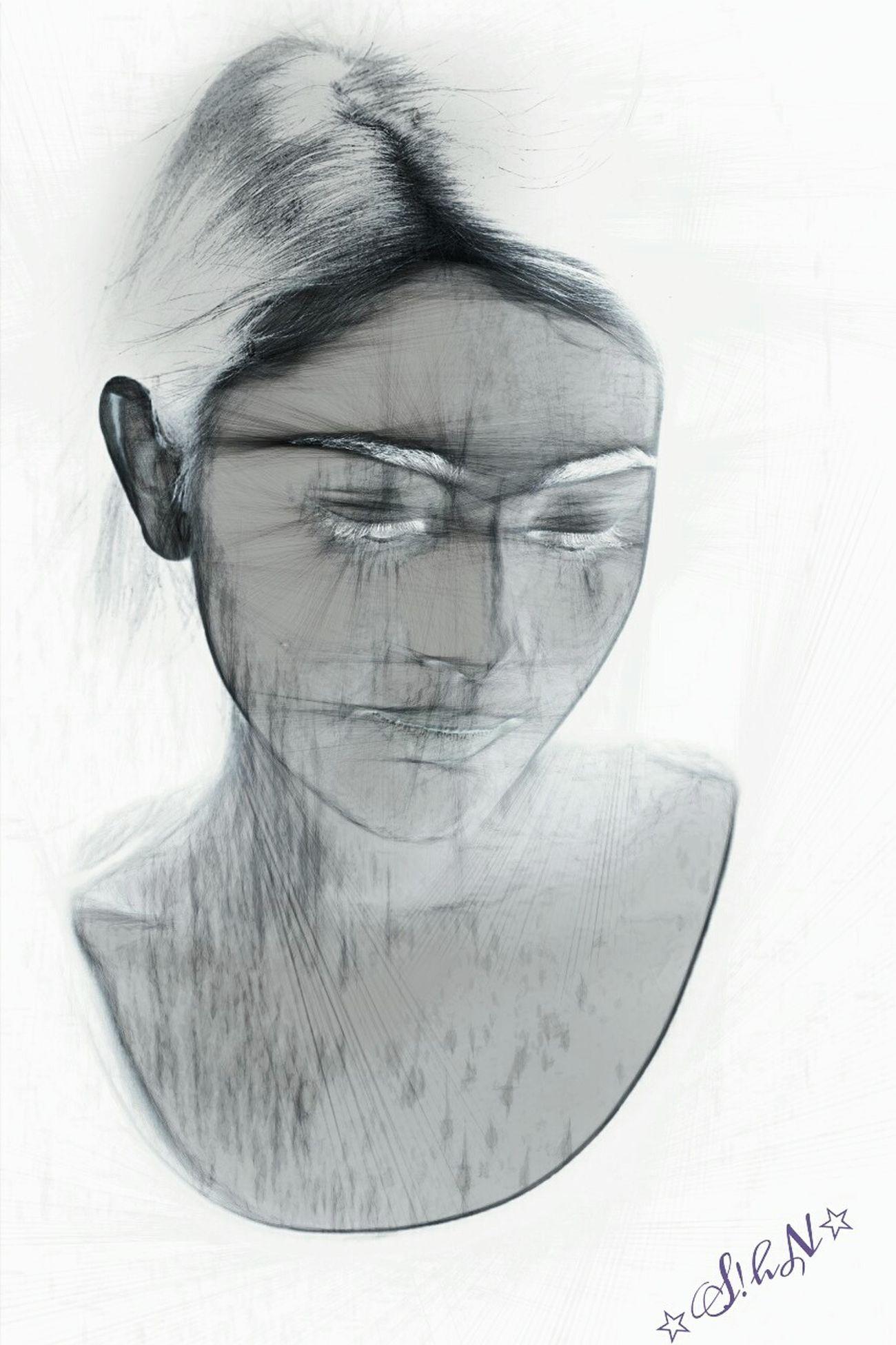 Freetoedit Artisticselfie Selfie Portrait Art, Drawing, Creativity Blackandwhitephoto Drawstepbystep Drawings Pencil Drawing