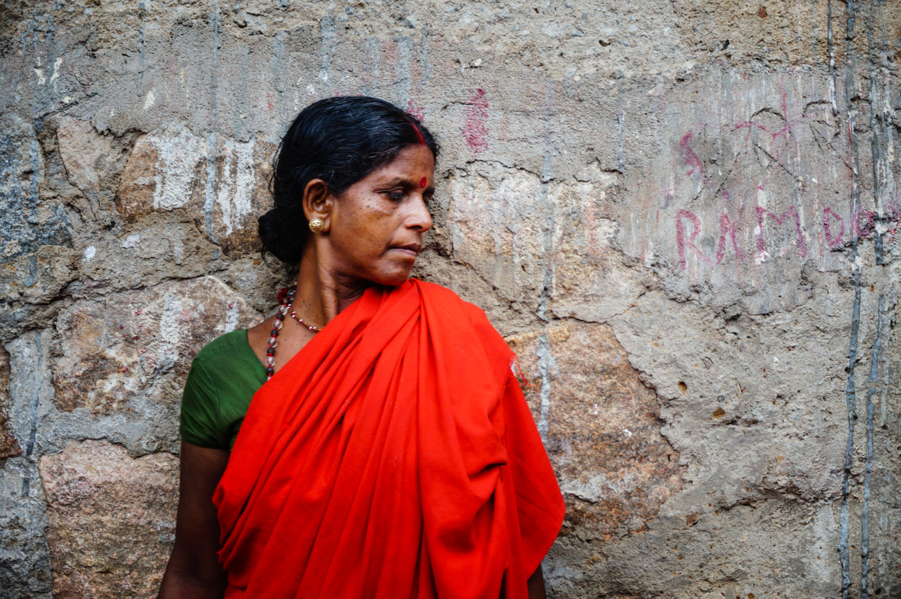 Adult Adults Only Assignments Bright Colours Close-up Cultures Day Devotion Emotions Captured Exploring Style Guwahati India Kamakhya Temple One Person One Woman Only One Young Woman Only Only Women Outdoors People Portrait Red Religion Sari Young Women