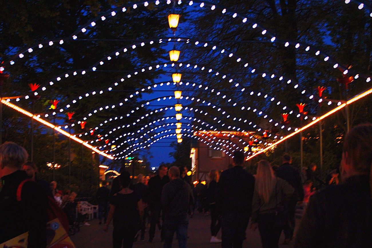 Crowd Illuminated Large Group Of People Celebration Leisure Activity Lifestyles Lighting Equipment Decoration Ceiling Enjoyment Lantern Fun Arts Culture And Entertainment Night Person City Life Nightlife Event Crowd Party - Social Event Electric Light Outdoors Scenics Park - Man Made Space Vacations Liseberg