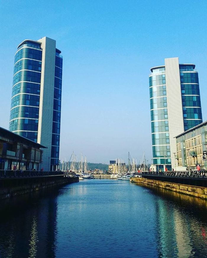 Coffee is required 😆☕ Dock Chatham Blue Water Bluesky Reflection Yacht Fishboat Travel Tourist Holiday Relax Explore Cityscape Aroundeurope Uk Happytimes