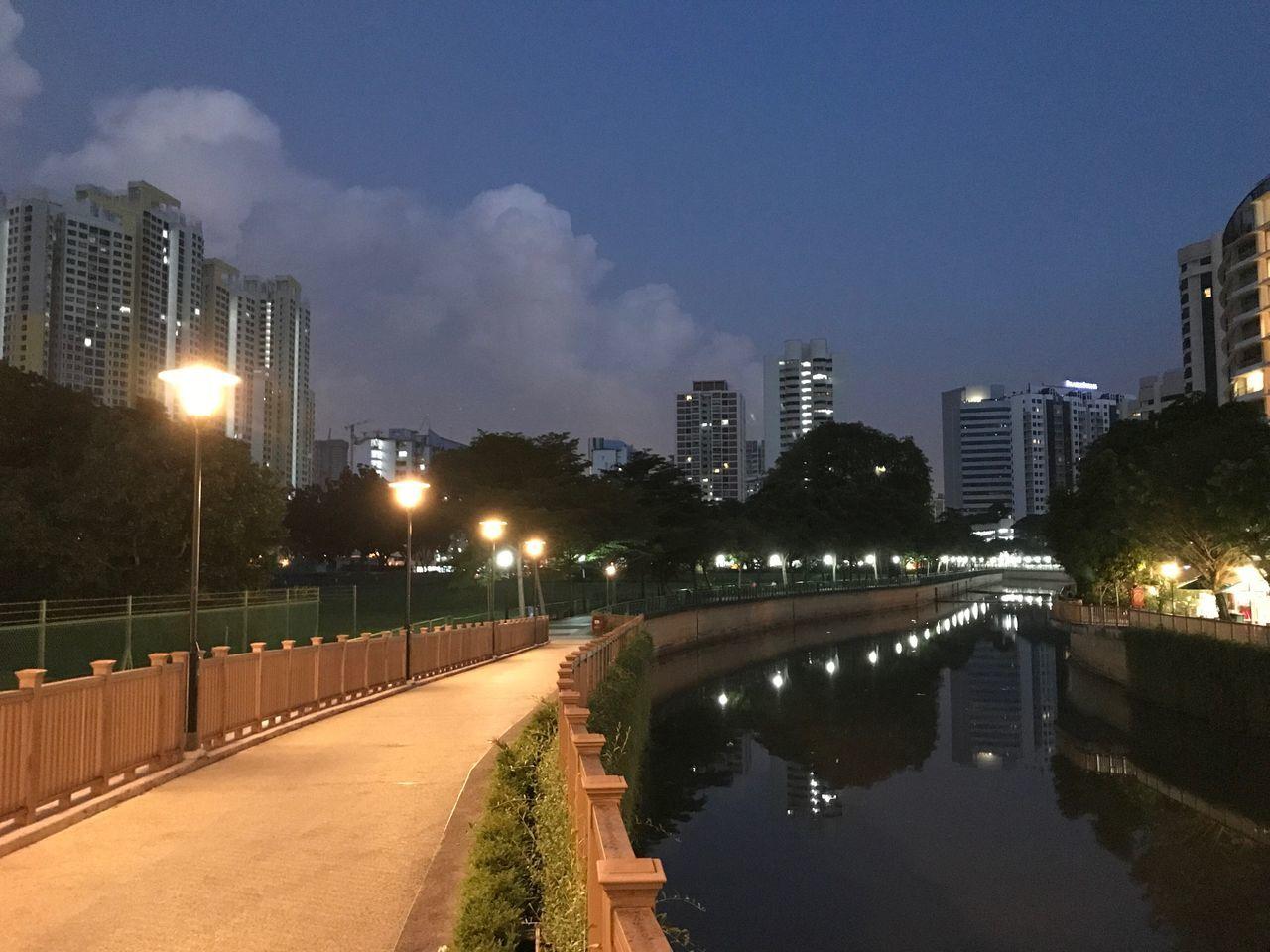 Good Morning Singapore 2 - Dawn - Riverside No People Street Light Waterfront River River Walk Riverside Day Breaks Softly Day Break Skyline