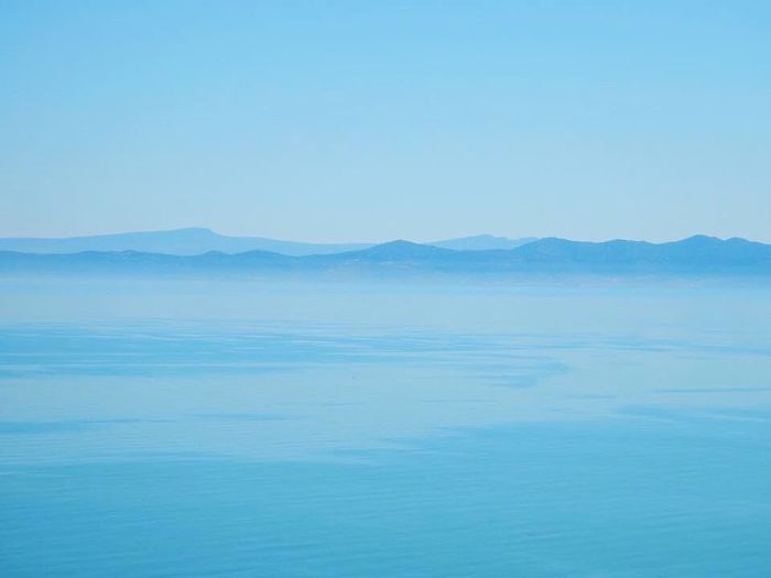 """""""Fifty Shades of Blue"""" from the hill of Sidi Bou Saïd, Tunisia"""" Blue Beauty In Nature Nature Scenics Tranquil Scene Mountain Outdoors Tranquility No People Day Landscape Sea Pastel Colored Clear Sky Backgrounds Water Sky"""