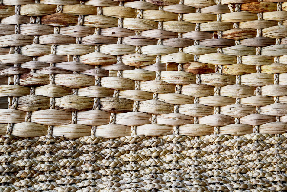 Bamboo - Material Basket Close-up Day Full Frame Handmade Indoors  Mat No People Pattern Picnic Basket Textured  Whicker Wicker Wood - Material Woven