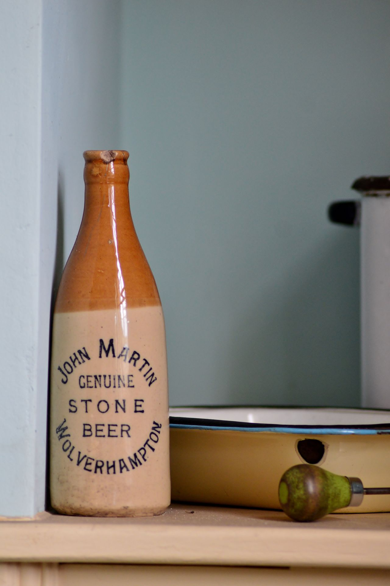 Beer Beer Time Blue Bottle Check This Out Cheers Follow4follow Hello World Hi Indoors  Nikon Nikon D3200 Old Bottles Old-fashioned Pastel Power Photography Shelf Simple Photography Simplicity Still Life Stone Beer Taking Photos Wolverhampton