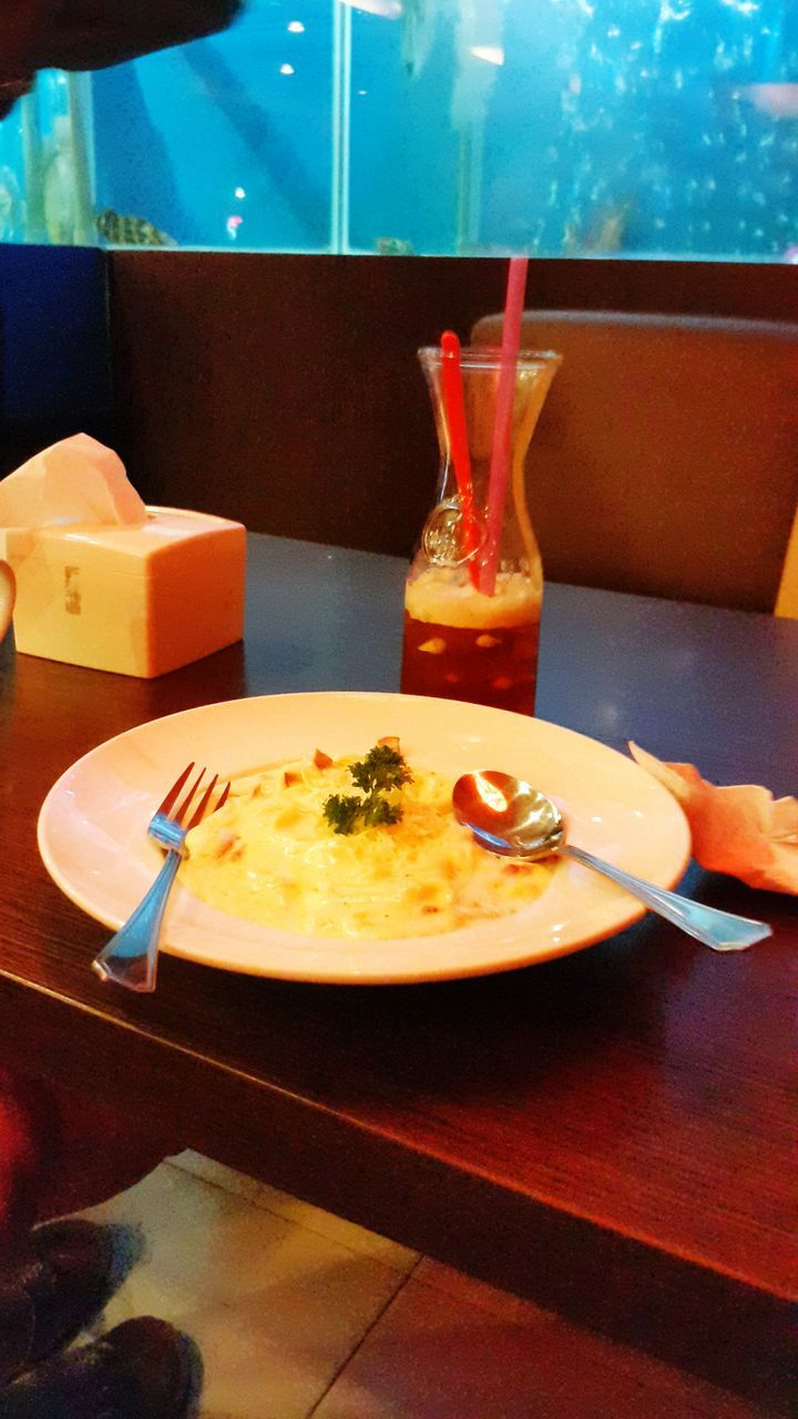 food and drink, food, indoors, table, plate, no people, fork, ready-to-eat, freshness, serving size, healthy eating, close-up, drink, day