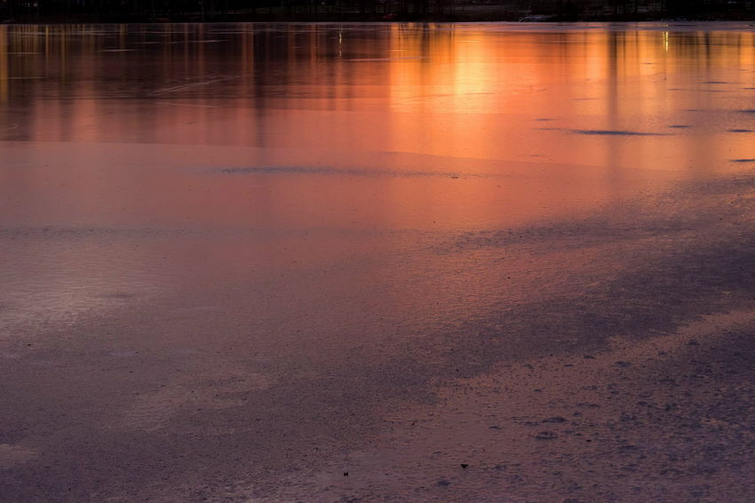 Backgrounds Beautiful Beauty In Nature Close-up EyeEm Masterclass Fozen Water Lake Nature No People Outdoor Photography Outdoors Reflection Shadows & Lights Sunrise Tranquility