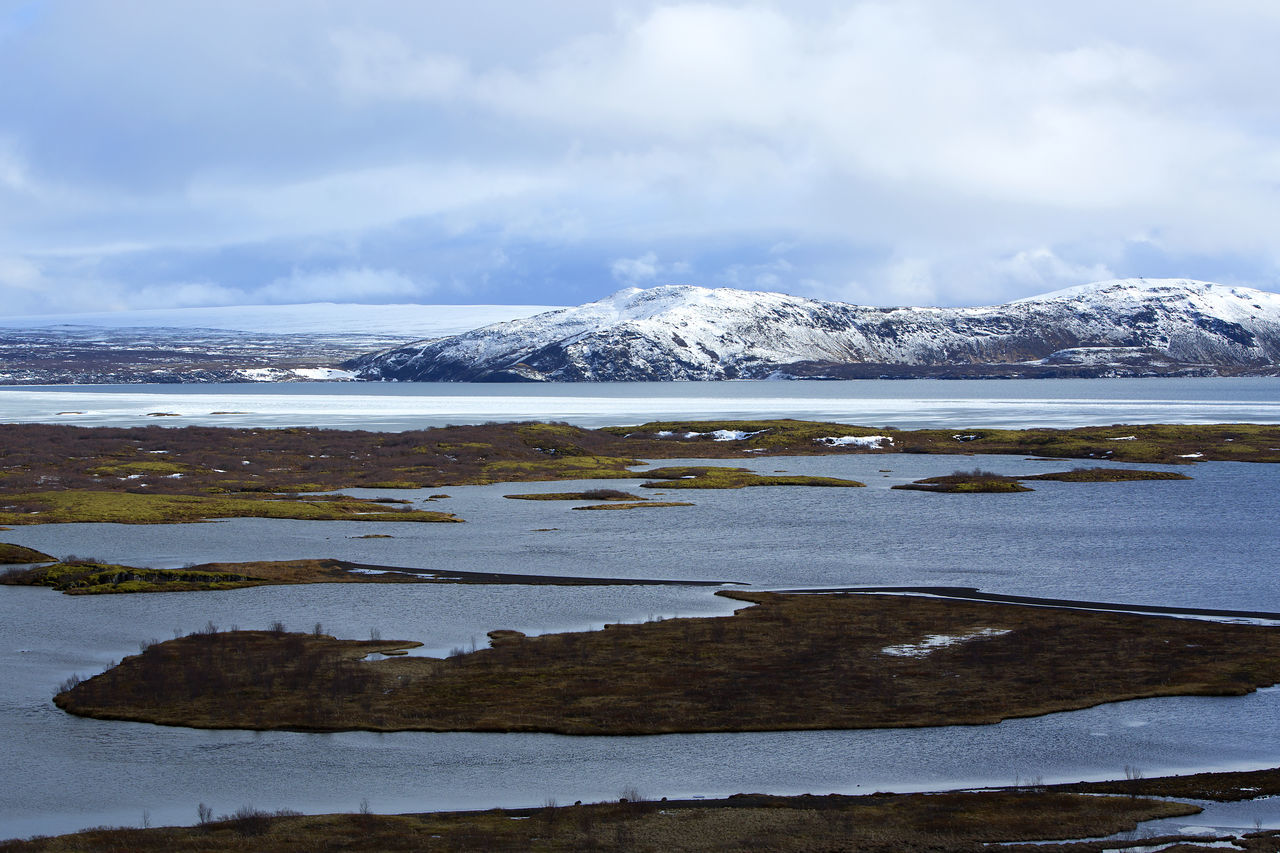Cloud - Sky Cold Temperature Day Frozen Glacier Ice Iceland Iceland Trip Iceland_collection Lake Landscape Mountain Mountain Range Nature No People Outdoors Pingvallavatn Pingvellir Polar Climate Snow Thingvellir National Park Travel Water Wilderness Winter