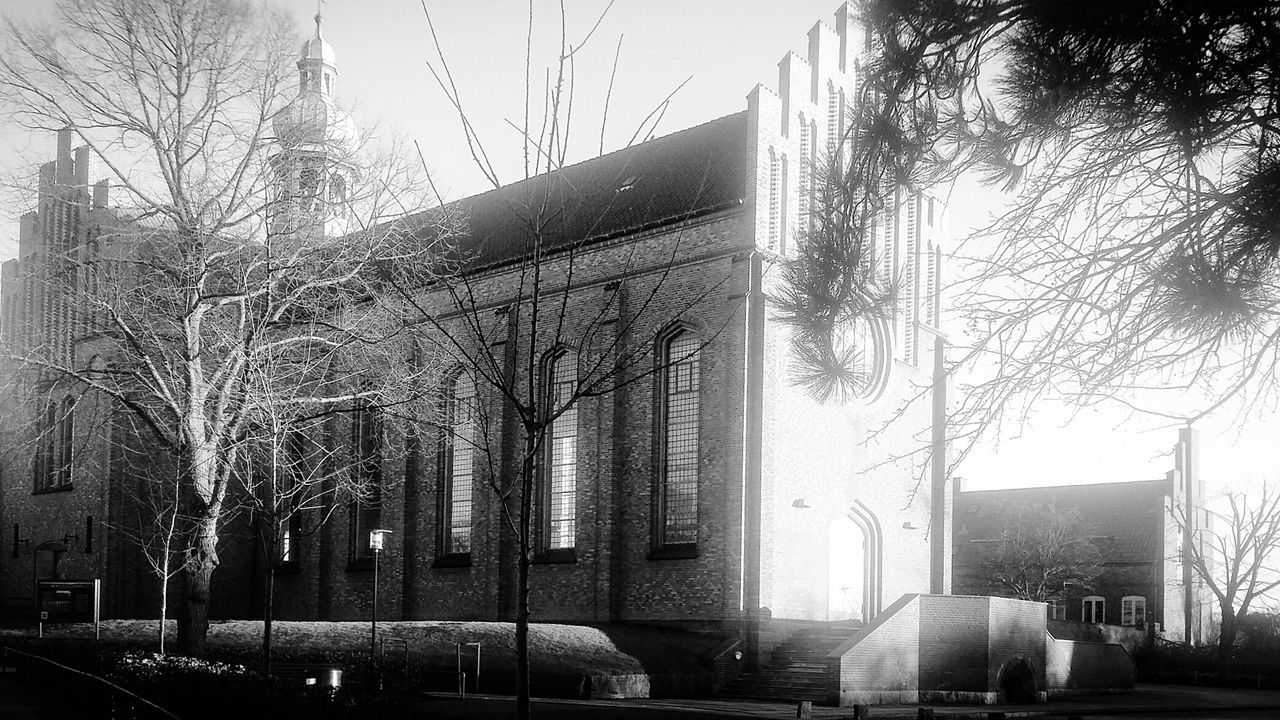 Church Messiaskirken Messiahchurch A Sunny Day in Black And White the place I Work