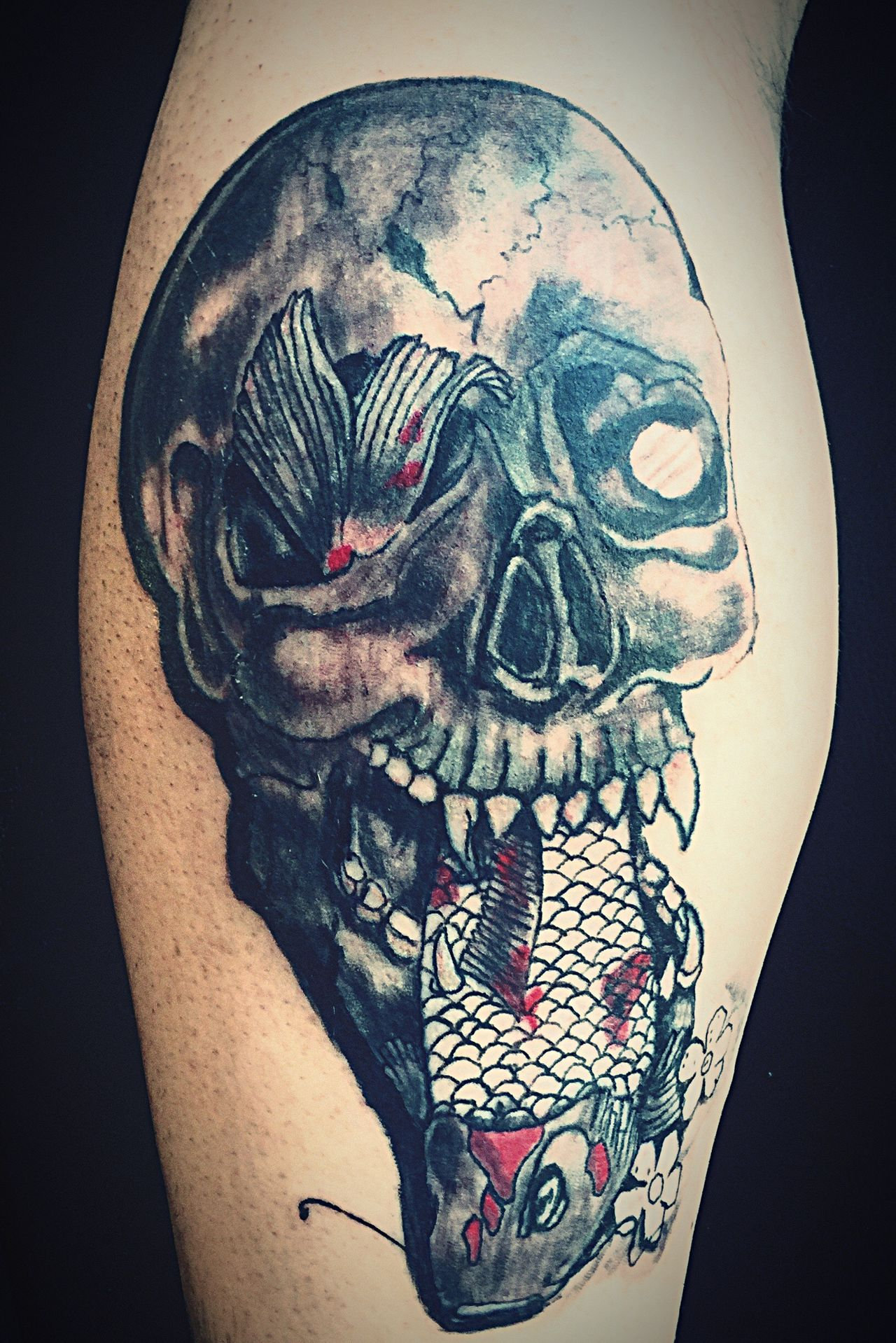New Tattoo! By Matthew @ Dark Visions Inc Www.d4rkvision.com Dark Art Forward The Revolution 23 Check This Out Book Online Today