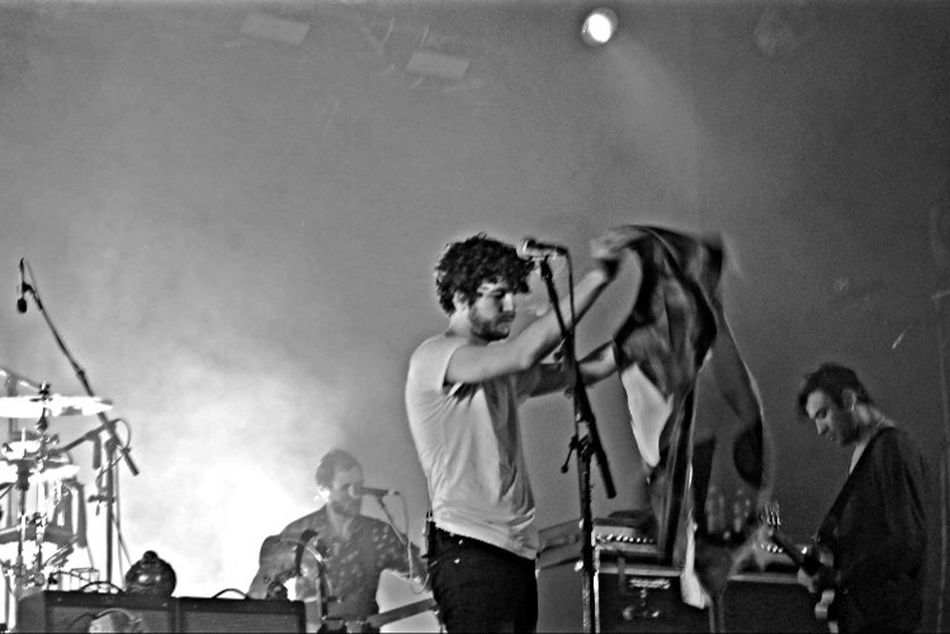 For The Love Of Music The Kooks Concert Concert Photography Live Music Blackandwhite Photography Blackandwhite Music Flag Performance