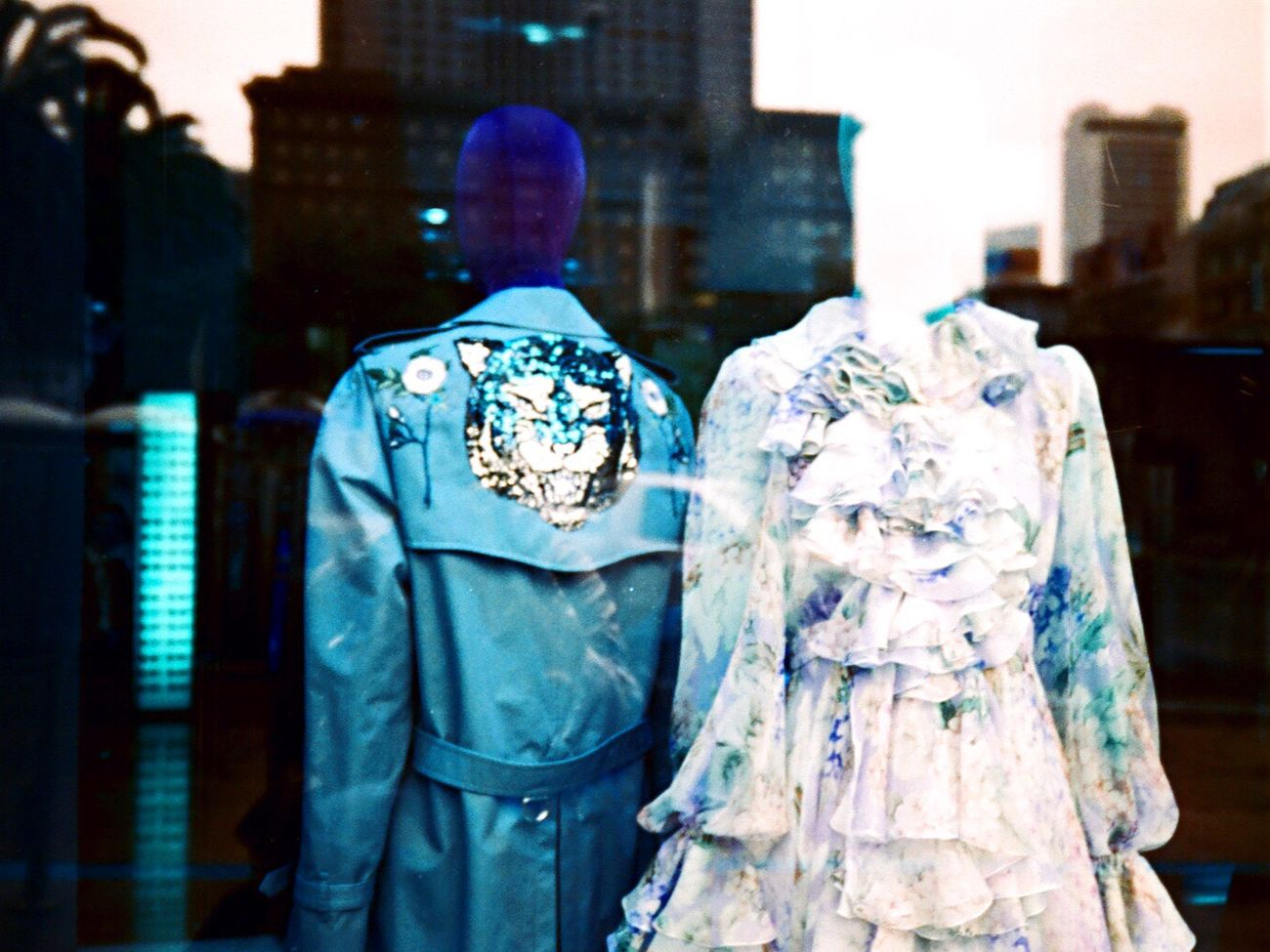 Koduckgirl Film Film Photography Lomography Lomo Turquoise NATURA Classica Clothes Store Window