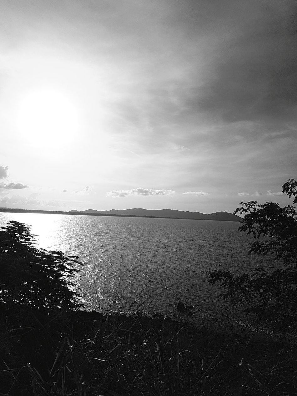 Black and white sea scene Water Scenics Sea Tranquility Outdoors Beauty In Nature No People Landscape Tranquil Scene Nature