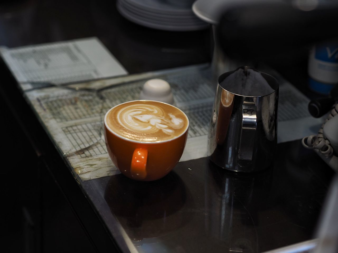 coffee - drink, coffee cup, food and drink, drink, cappuccino, refreshment, indoors, latte, cafe, froth art, frothy drink, table, no people, high angle view, freshness, close-up, day