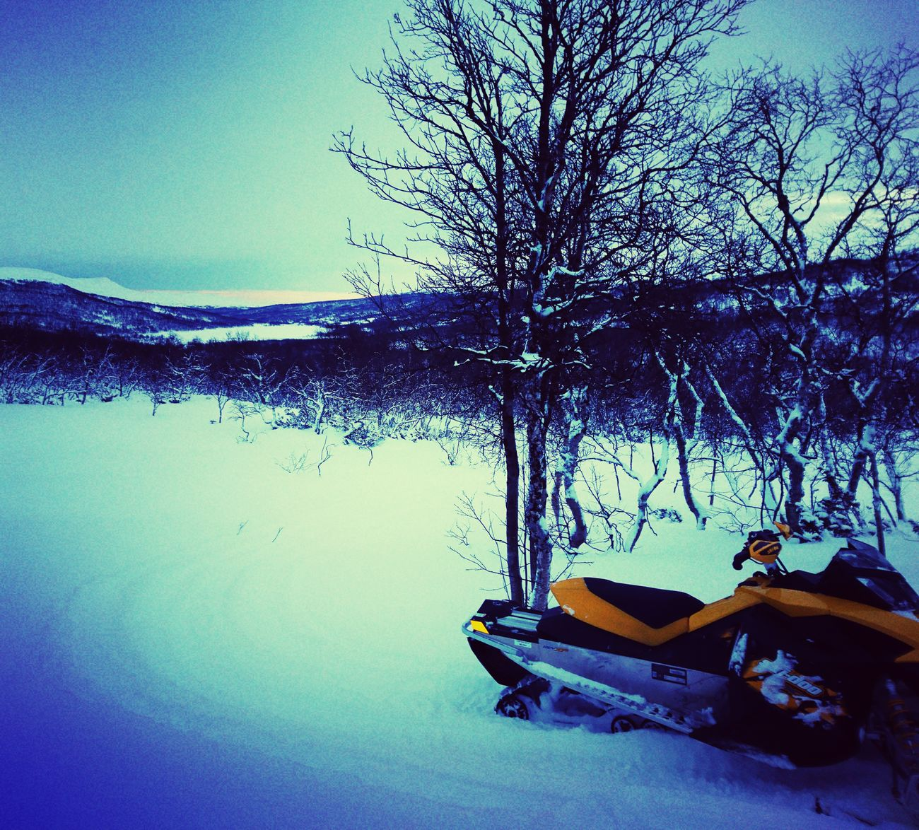 Kesudalen Snow View Sky Day Nature Scooter Yellow My Toy 😊 Mountains Frozen Lake