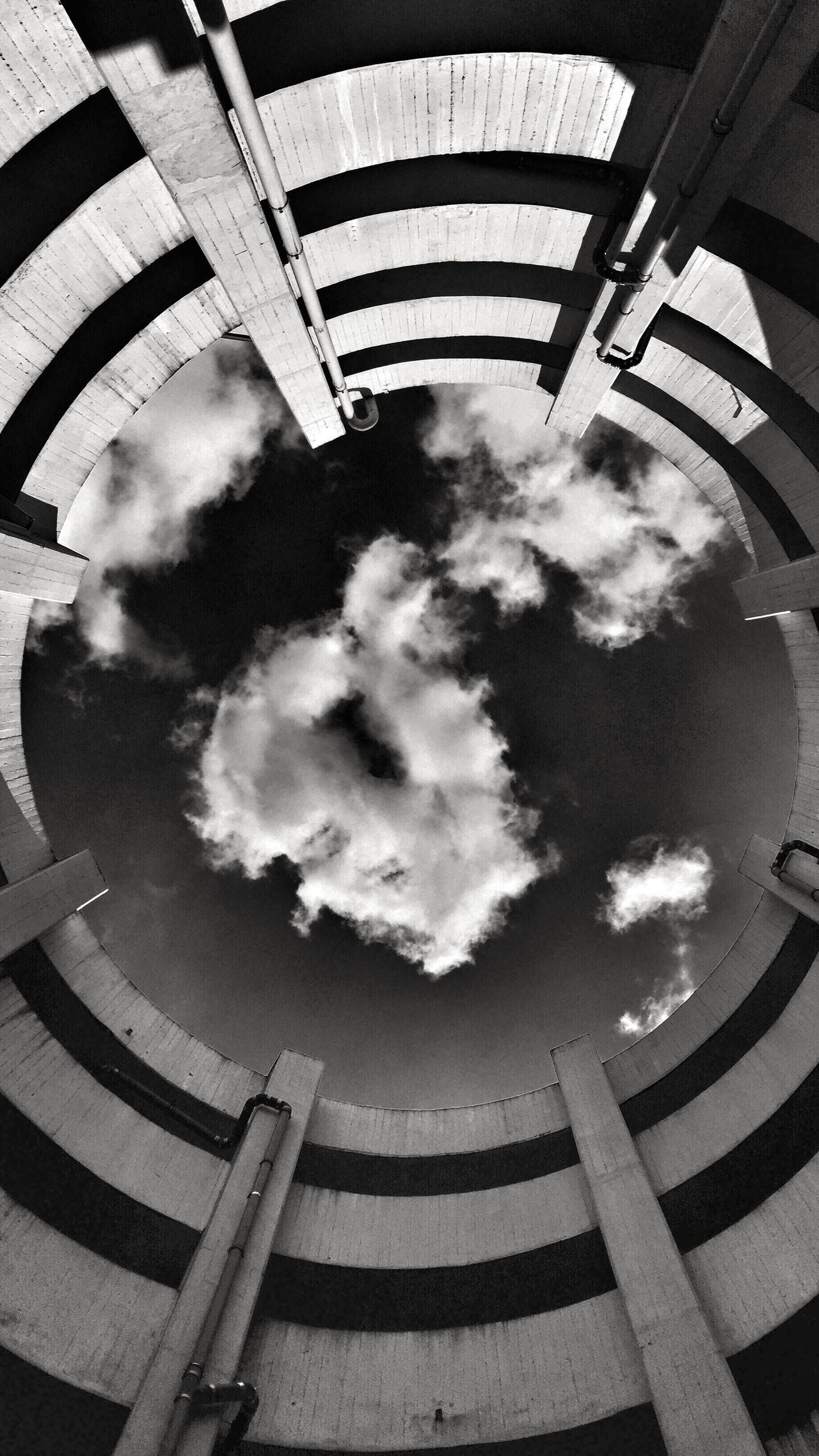The Architect - 2015 EyeEm Awards Urban City Architecture Clouds And Sky Clouds Urban Geometry NEM Architecture Black And White Blackandwhite