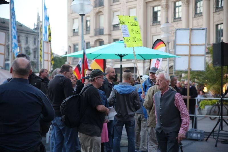 Pegida Demonstration Demonstration Extreme Right Pegida Racism