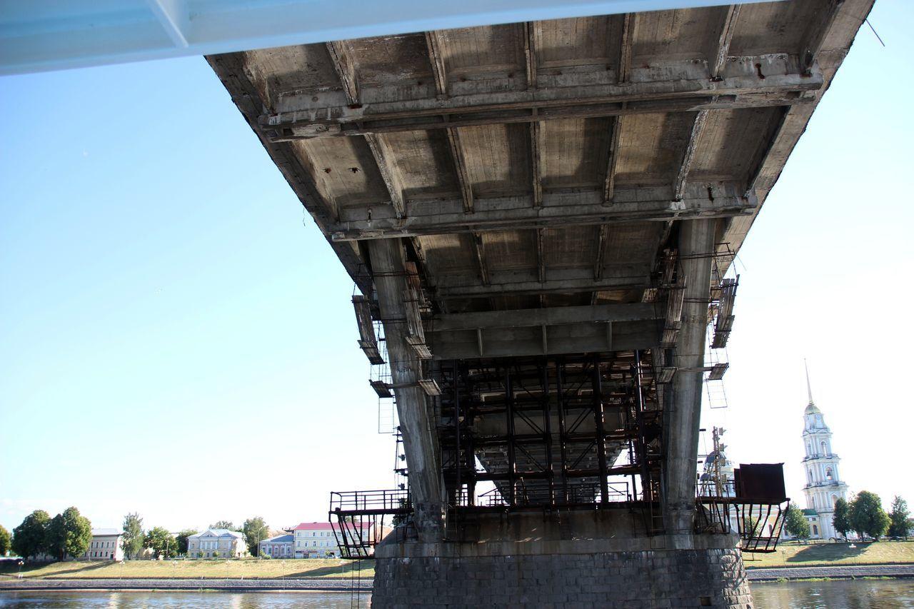 Architectural Column Architecture Bridge Bridge - Man Made Structure Engineering Russland Wolga