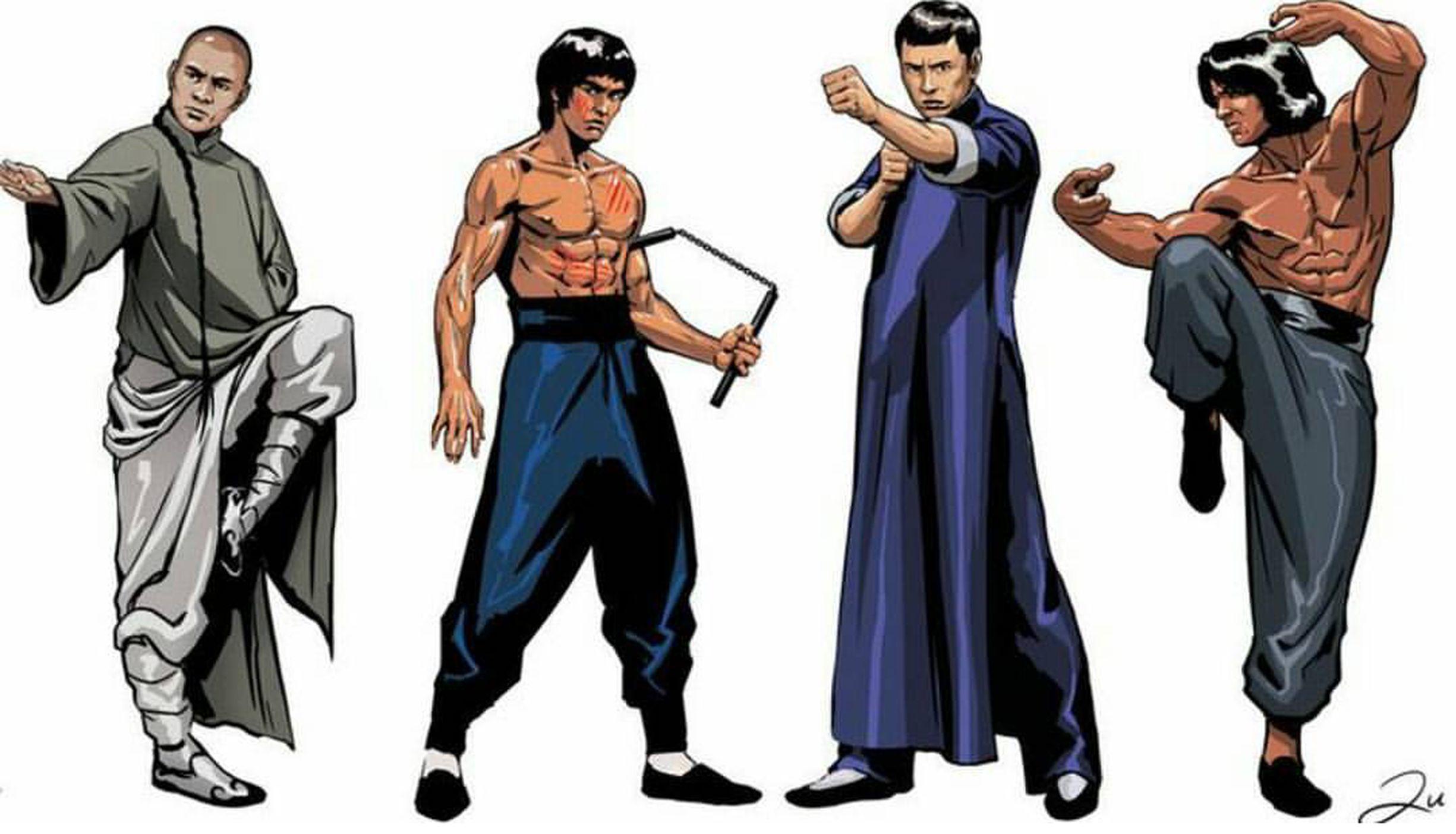 Bruce Lee Jet Li Donnie Yen Jackie Chan