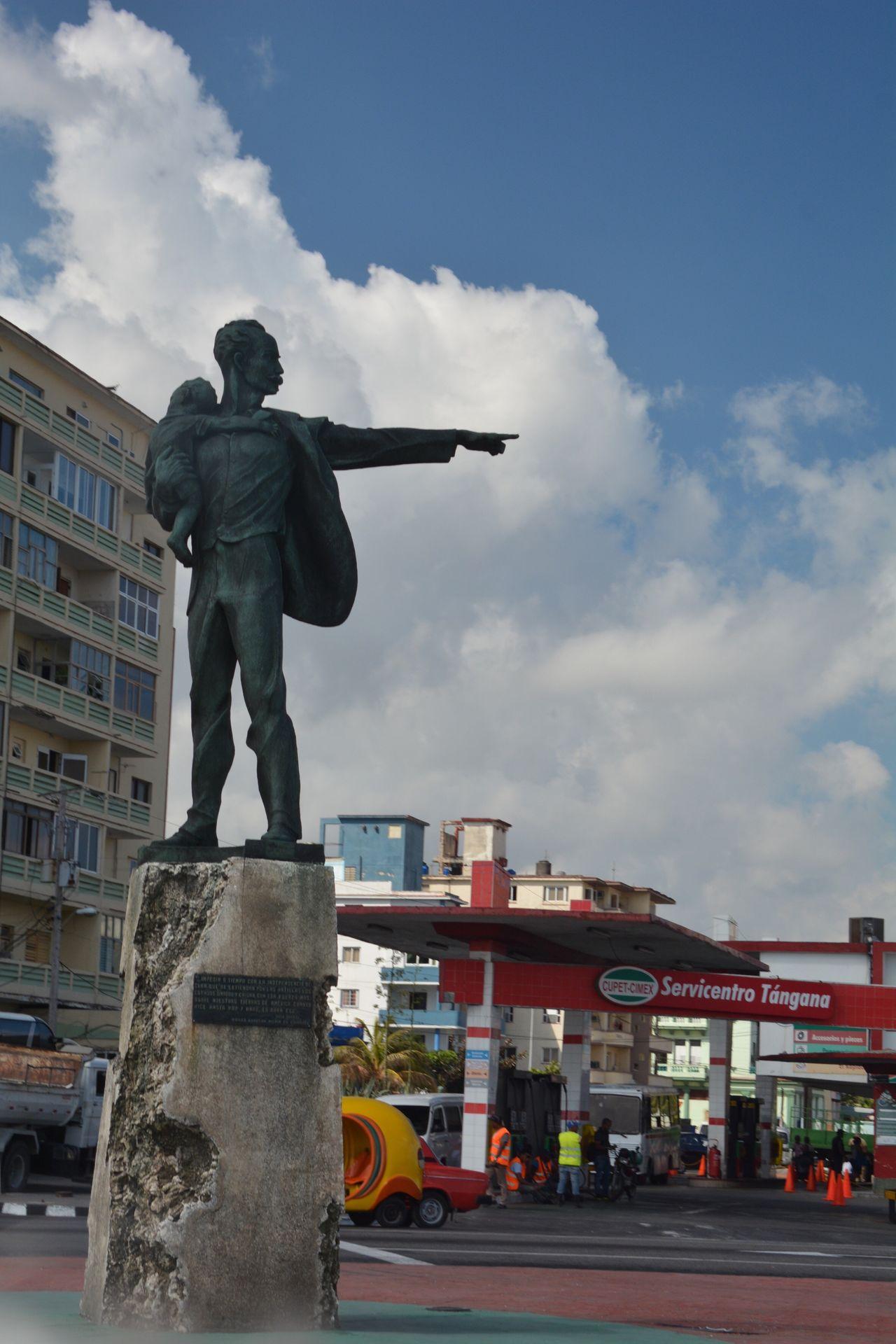 Jose Marti holding Elian Gonzalez statue across from US Embassy in Havana, Cuba. Jose Marti  Elian Gonzalez Cuba UsembassyCuba US Embassy Cuba Anti-Imperialist Plaza Havana Habana Habana Cuba  Havana Cuba Feelthejourney Feel The Journey