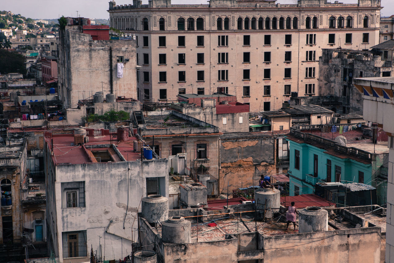 Cityscape of Havana city. Arial Shot Arial View Building Building Exterior City City Life Cityscapes Cuba Culture Havana Havana Cuba Old Buildings Old Town Residential Building Tourism Town TOWNSCAPE Travel Travel Destinations
