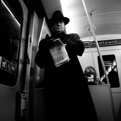 "The Street Photographer - 2016 EyeEm Awards ""Man in Black"" Check This Out Streetphotography Blackandwhite Street EyeEm Best Shots"