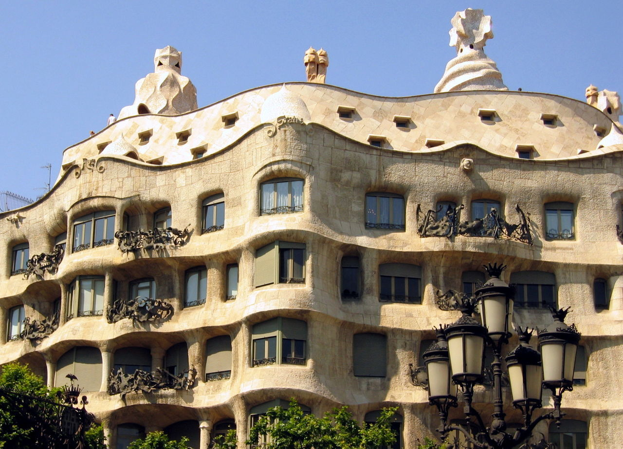 Architecture Barcelona Building Exterior Built Structure Day Gaudi Low Angle View No People Outdoors S Sky Travel Destinations