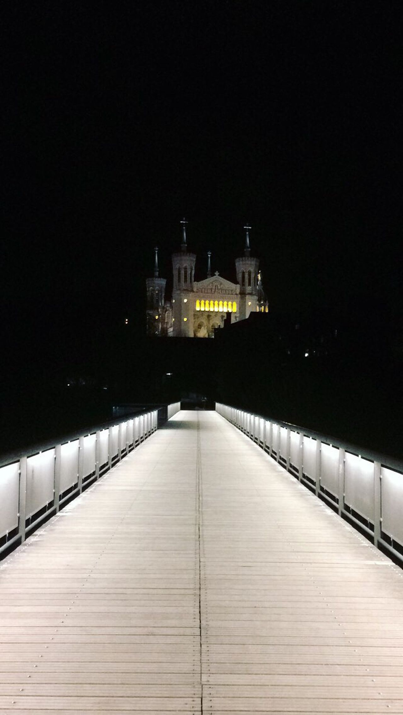 Lyon ! Architecture Built Structure The Way Forward Night Building Exterior No People Illuminated Outdoors