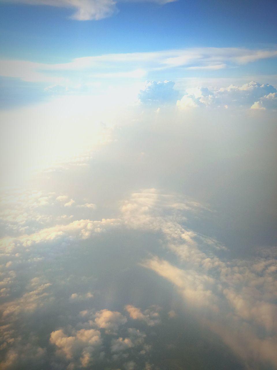 Aerial View Of Sea Of Clouds In Sky