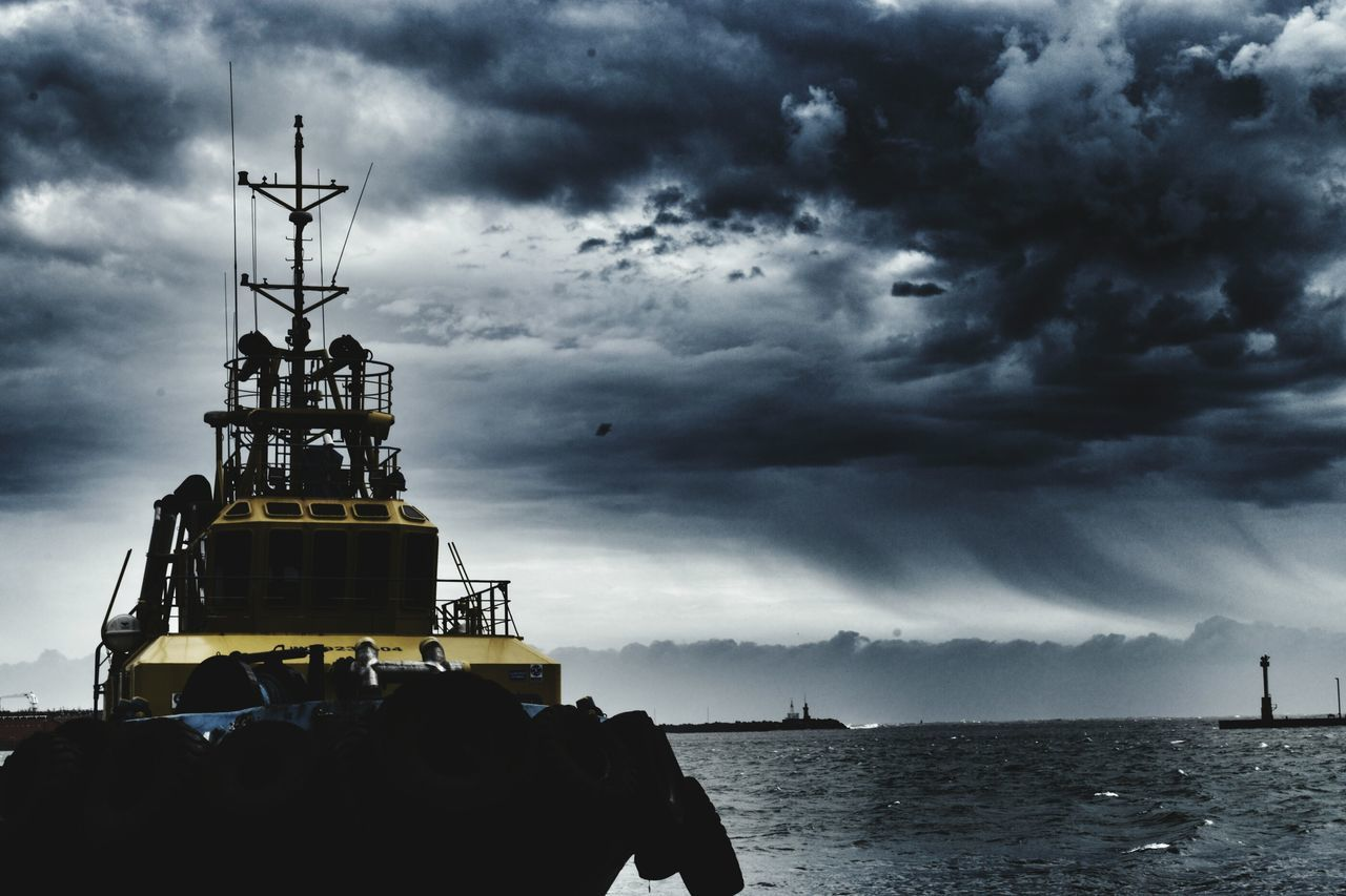 Cloud - Sky Outdoors Sky Ship Water Sea Nature Scenics Nautical Vessel Guarding No People Architecture Day