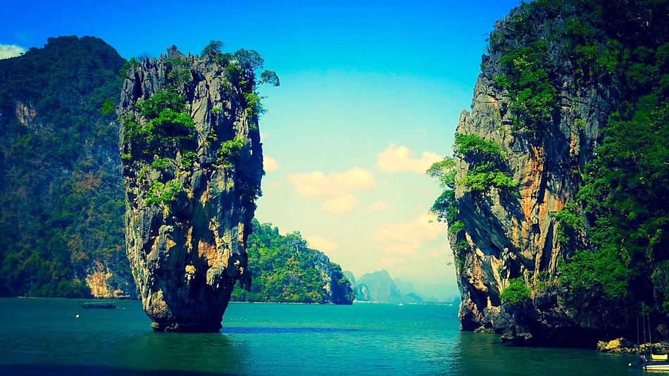 Phang Nga, James Bond set location in Thailand. Golden Gun Island James Bond Mountain Nature Phang Nga Phuket Rock Roger Moore Sea Thailand