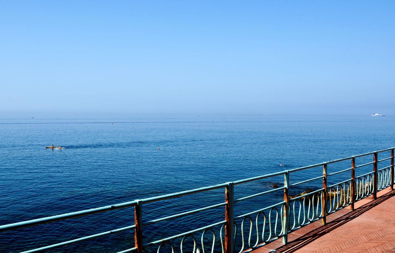 Ligurian Sea from Passeggiata Anita Garibaldi - Genova Nervi, Liguria, Italy. Anita Garibaldi Beauty In Nature Day Genova Horizon Over Water Italia Italy Liguria Mare Nature Nervi  Outdoors Passeggiata Scenics Sea Seascape Sky Tranquility Water