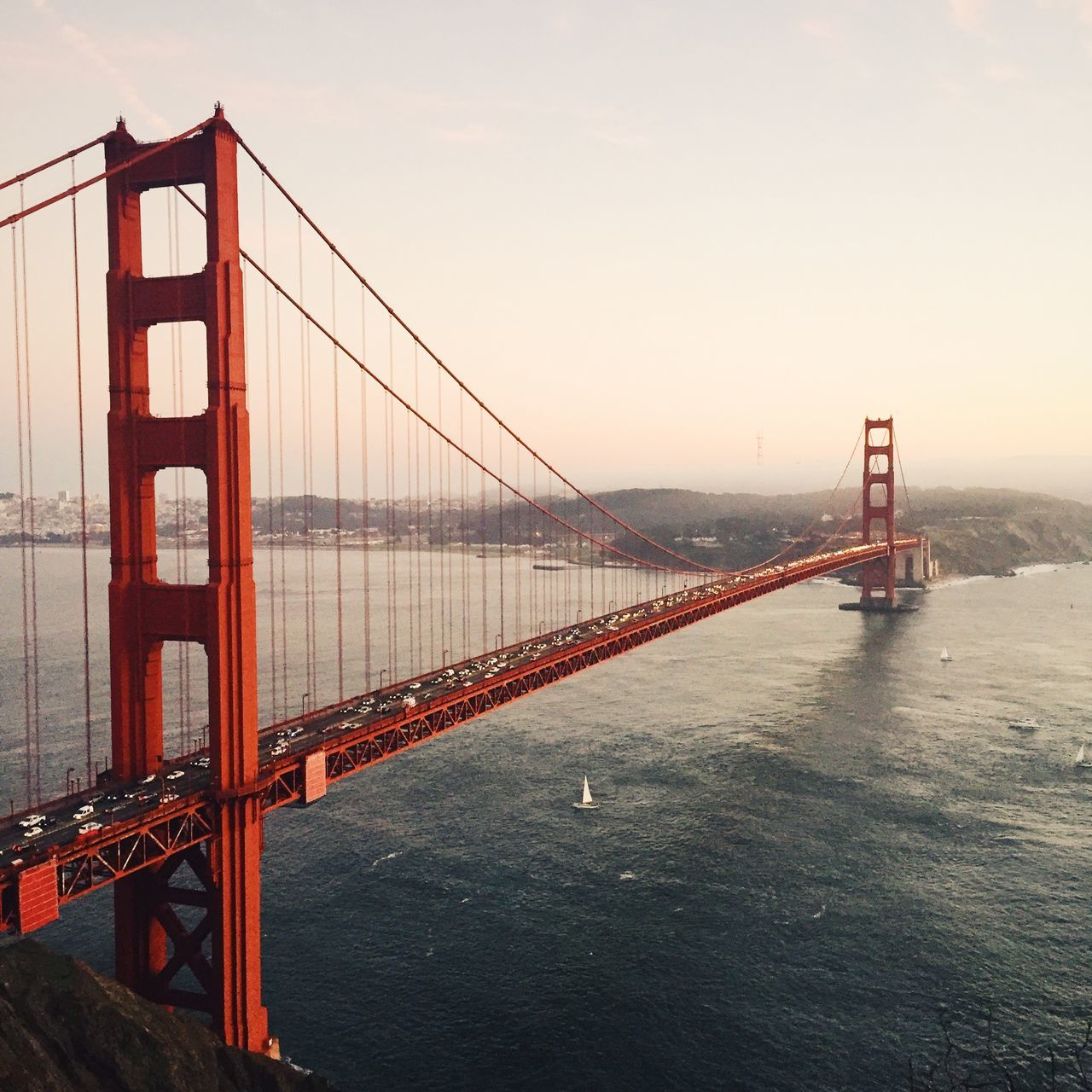Golden Gate bridge at San Francisco, USA. Architecture Bridge - Man Made Structure Built Structure California City Cityscape Connection Day Golden Gate Bridge Golden Gate Park IPhone IPhoneography No People Outdoors San Francisco Sea Sky Square Suspension Bridge Transportation Travel Travel Destinations USA Water