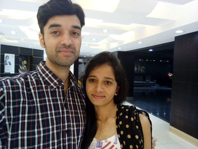 Hug Shopping Looking At Camera Two People Portrait Smiling