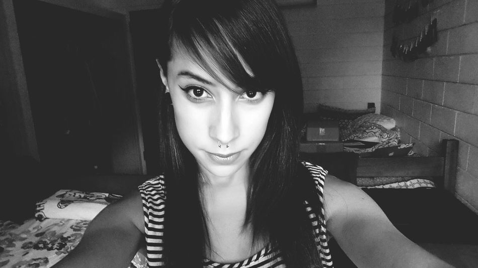 Selfie Self Portrait That's Me Black & White