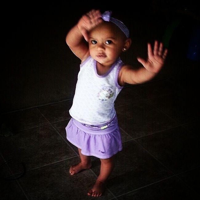 She was waving to mamma earlier.. My baby so pretty!! ShesAlmostOne Kamrynnoelle ??????