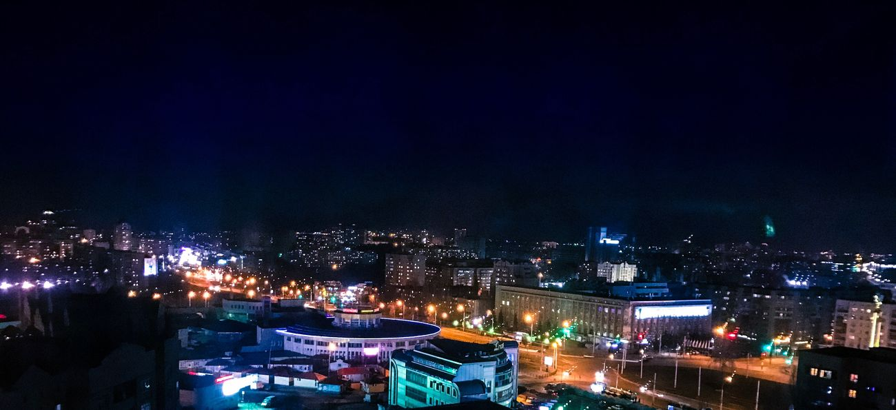 Night Illuminated City Architecture Cityscape Building Exterior Built Structure City Life Sky No People Outdoors Lipetsk липецк Skyscraper