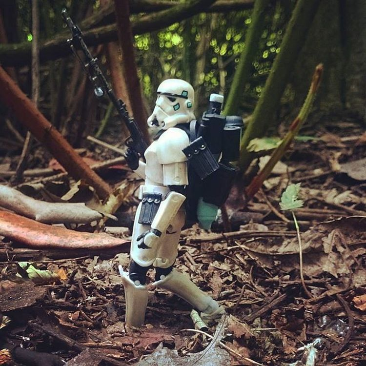 The captain makes a sweep of the perimeter. Last thing he wants is a surprise attack, his troop needs rest. It'll be ok though, he has his ewok stomping boots on! Toyphotography Captainryan Stormtrooper Starwars Starwarsblackseries Starwarselite @starwars_3lite Toyunion Toyslagram Afosw Toydiscovery @toydiscovery Toysaremydrug Toysalive Toyoutsiders Justanothertoygroup