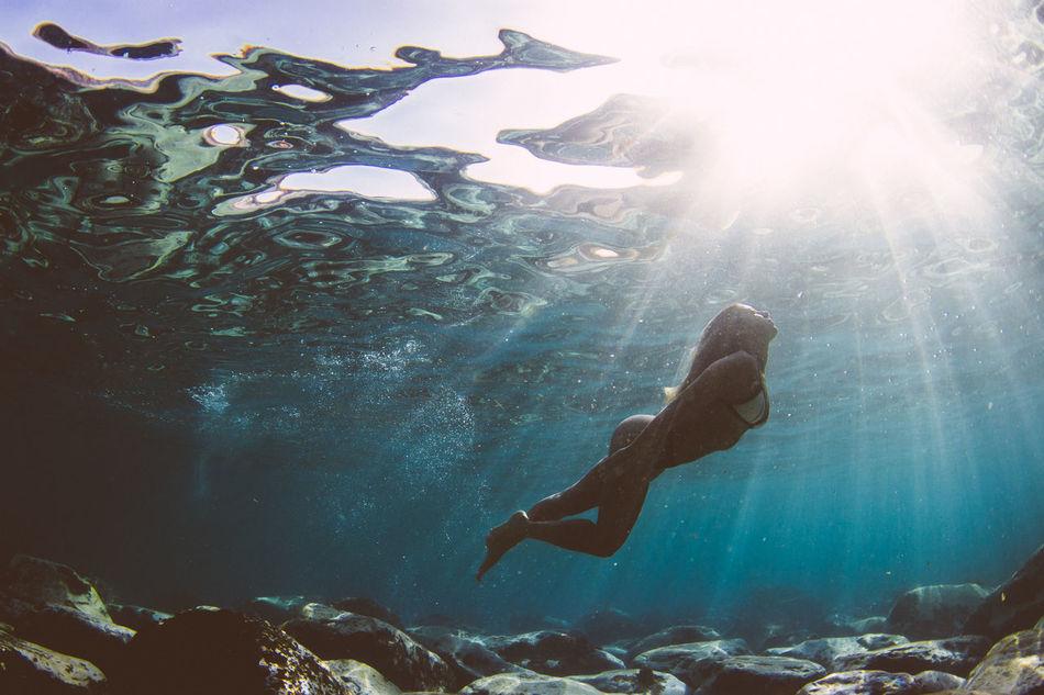 Adventure Bikini Bikini Time❤ Canarias Canary Islands Eye4photography  EyeEm Best Shots Girl Model Modeling Ocean Ocean View One Person Sea Seascape Snorkeling Sunlight Sunlight Swimming Tenerife UnderSea Underwater Underwater Diving Underwater Photography Water
