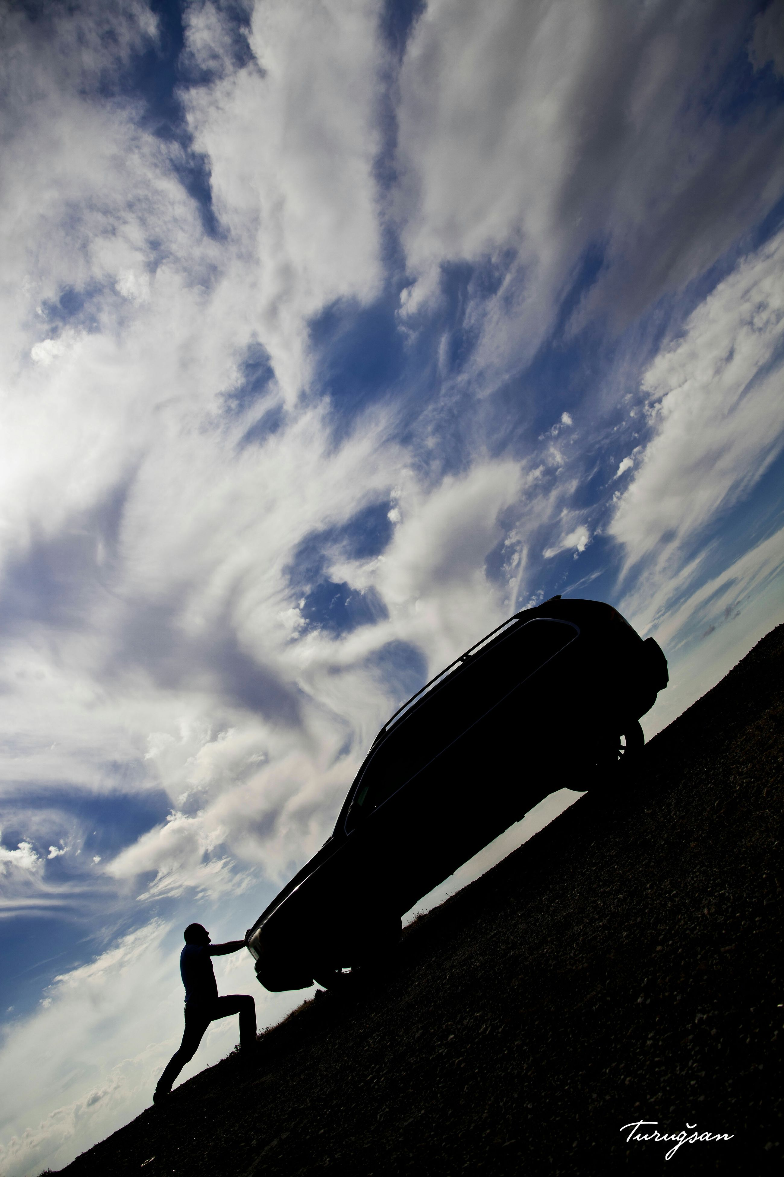 silhouette, sky, cloud - sky, low angle view, dusk, built structure, cloudy, architecture, one animal, cloud, outdoors, animal themes, transportation, nature, outline, building exterior, day, no people, unrecognizable person, sunlight