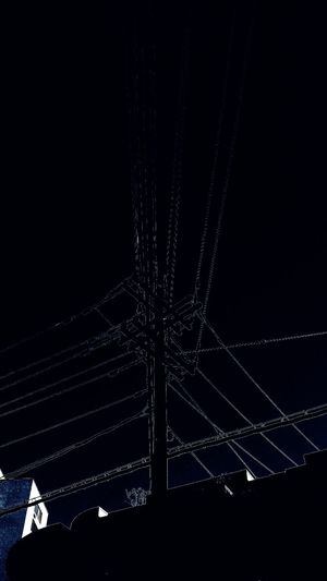 midnight mood Yves Klein Blue Lines Minimalism Aracnoid Abstractification Urban Geometry Lookingup Wires And Sky Point Of View Above Ground Wires Weehauken, New Jersey Overnight Success