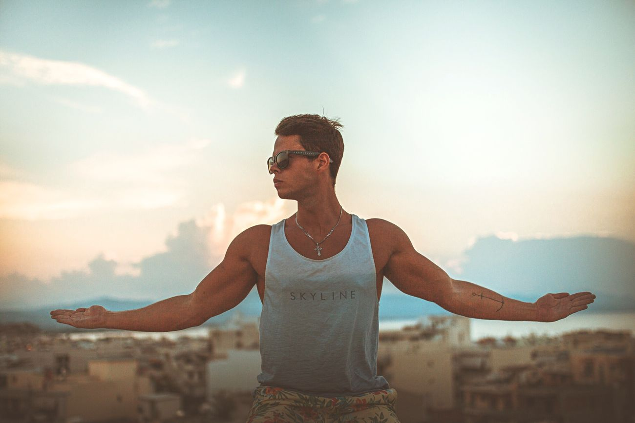 That's Me Chilling Sunset Amazing View Bestoftheday Relaxing Traveling Lovely Sun Great View Beautiful Sky Awesome Like Hello World Sky And Clouds Followme Greece Muscles Adore Want Soft Light Pretty Alone Holiday