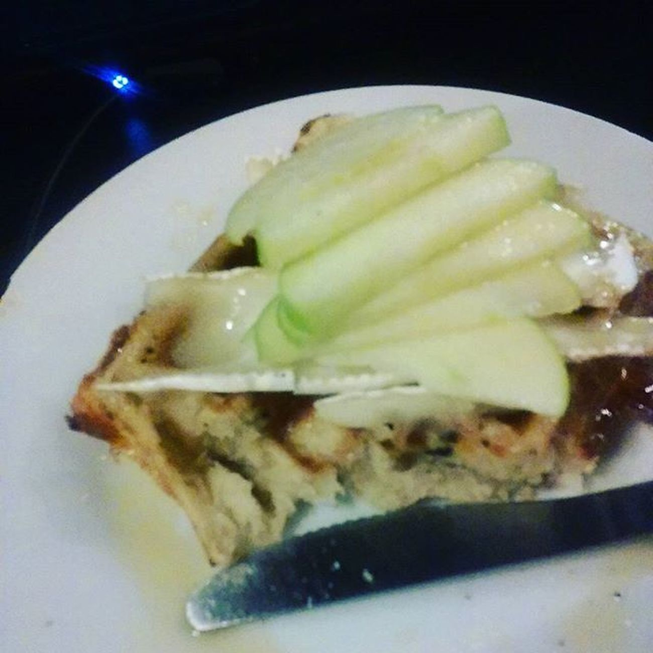 House special waffle: brie apples and honey Milliejoescharlottesville