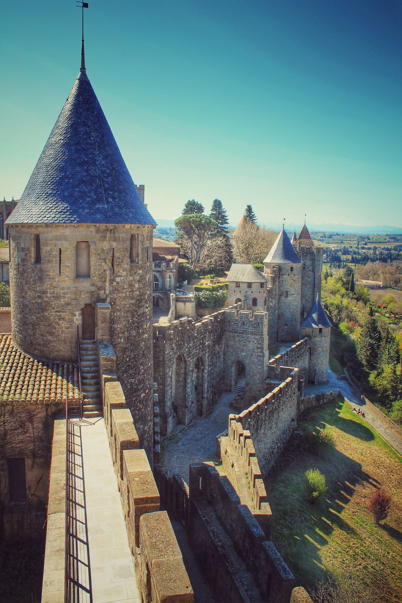 Architecture Carcassonne Castle Famous Place Fortress France Historic History Medieval Old Old Ruin Ramparts Sightseeing The Past Tower World Heritage