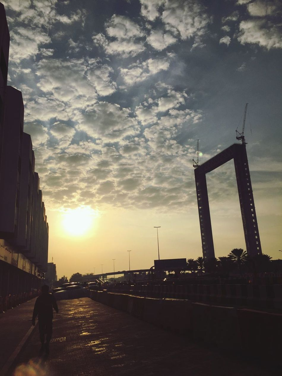 Early morning jogging Sunrise Dubaiframe Zabeel_park Silhouette Jogging Sunlight And Shadow Clouds Clouds And Sky Beautiful Beautiful Day