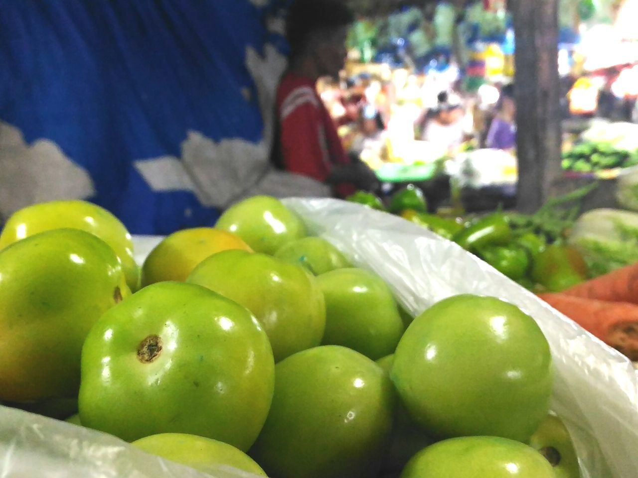 Focus Object Food Freshness Focus On Foreground Market For Sale Green Color Tomatoes🍅🍅 Green Tomatoes