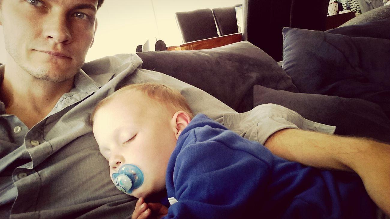 Sleep Schlaf Vater & Sohn