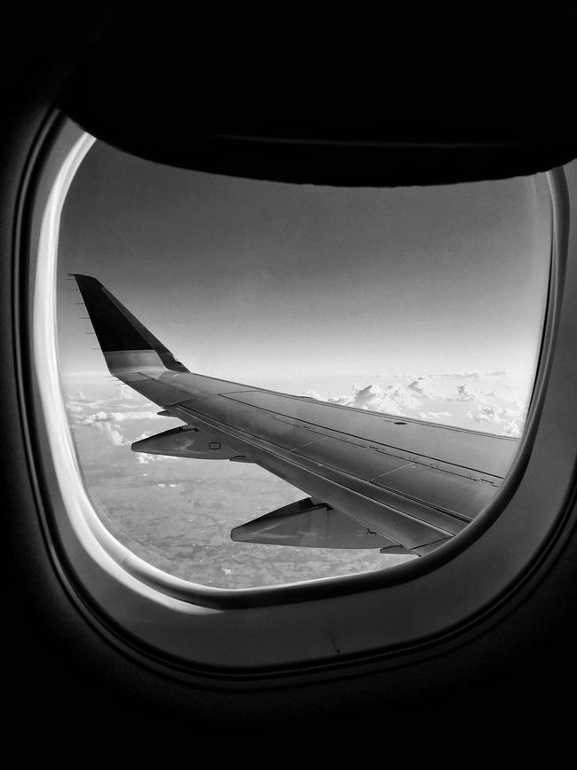 Air Vehicle Airplane Window Travel Flying Aircraft Wing Wingshot Looking Through Window Cloudscape On The Move Mid-air Plane Photo Of The Day Up In The Air