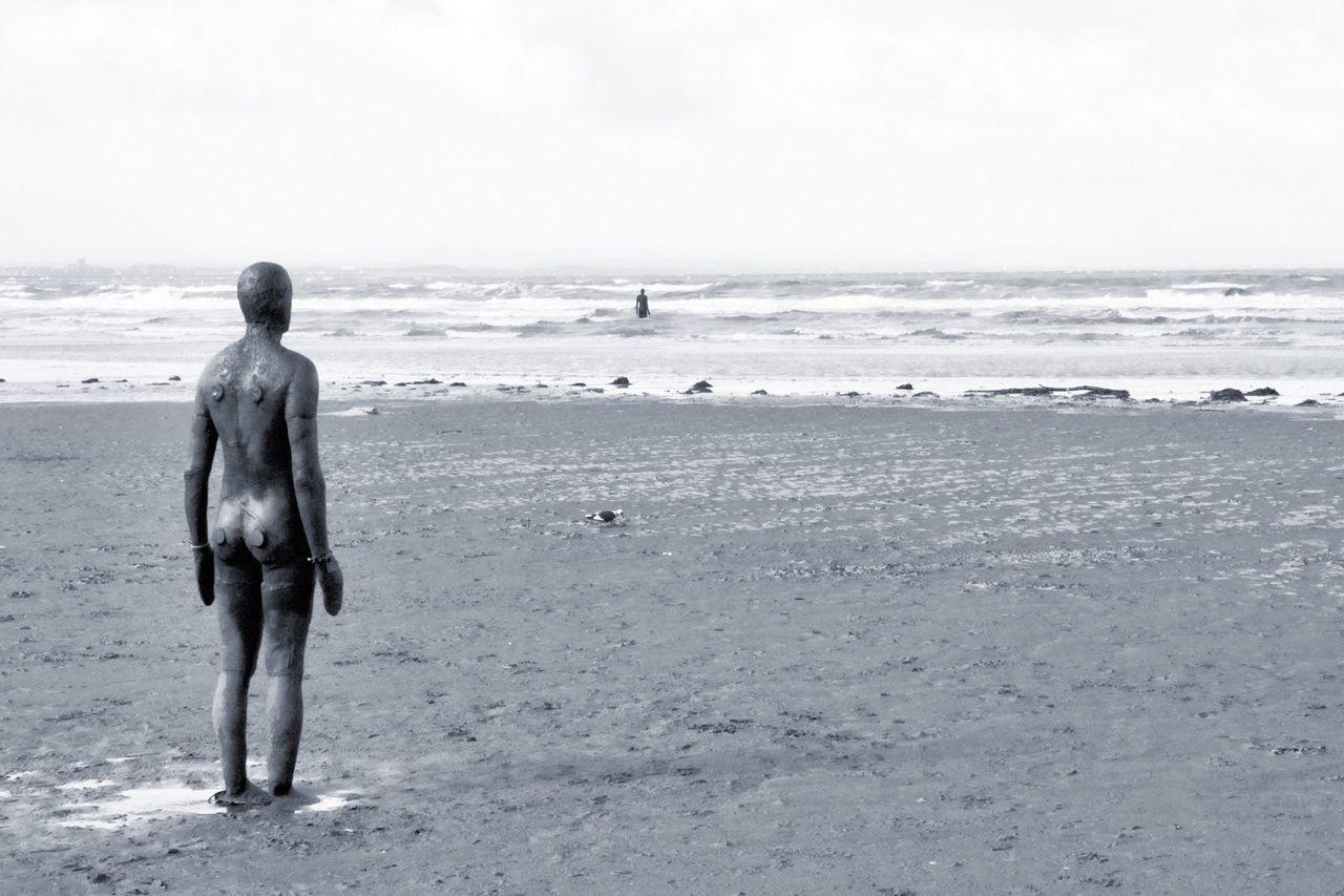 Crosby Beach Crosby Iron Man Ironwork  Beach Sculpture Liverpool, England Mersey Estuary Merseyside