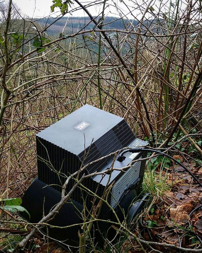 Why take it to the dump when you can leave it by the side of the road.... Flytipping IBM Senseless Pontypridd Hafodlane