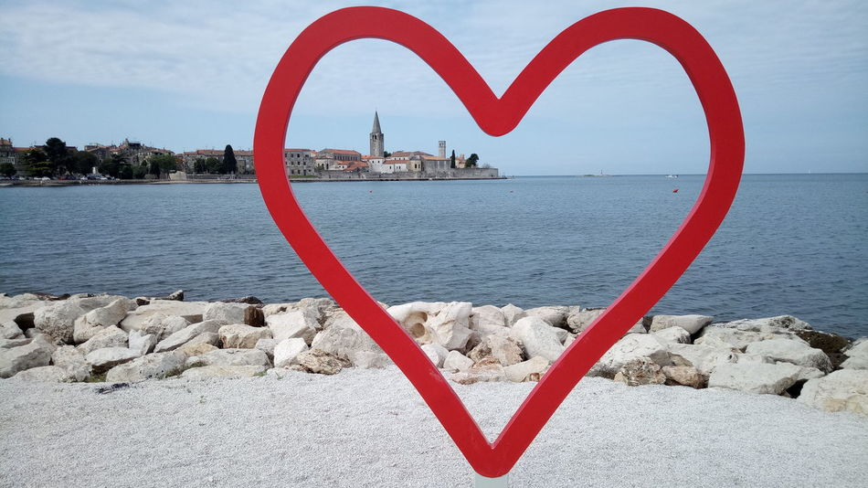 Heart Shape Outdoors Water Beach Sky Sea And Sky Old Town No People Cloud - Sky Tranquility